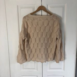 Scalloped Knit Cardigan